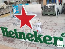 Heineken logo sign