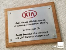 Kia plaque sign