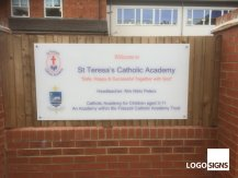 St Teresas plaque sign