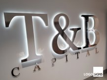 T and B Capital logo sign