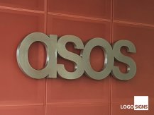 asos 3d logo sign