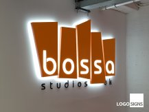 bossa illuminated logo sign