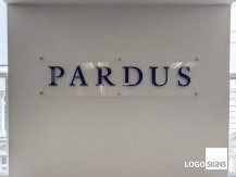 pardus acrylic plaque sign