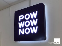 pow wow now logo sign