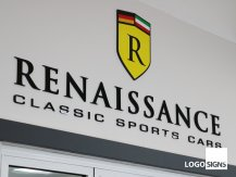 renaissance internal acrylic logo sign