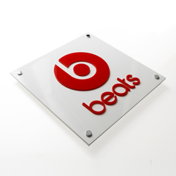 acrylic plaque raised logo