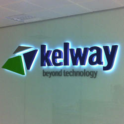 back lit logo sign