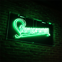 neon office sign