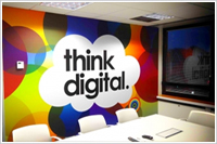 office wall graphics installation Aldwych